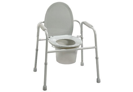 Deluxe All-In-One Steel Commode