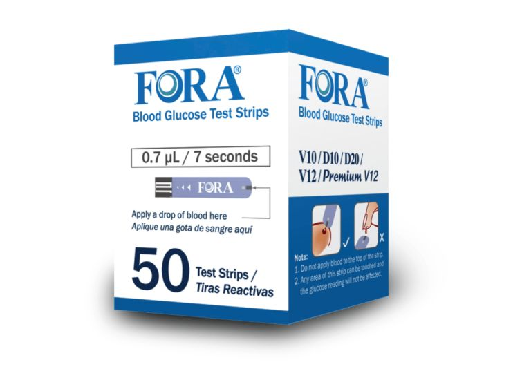 FORA V12 Blood Glucose Test Strips (50count)